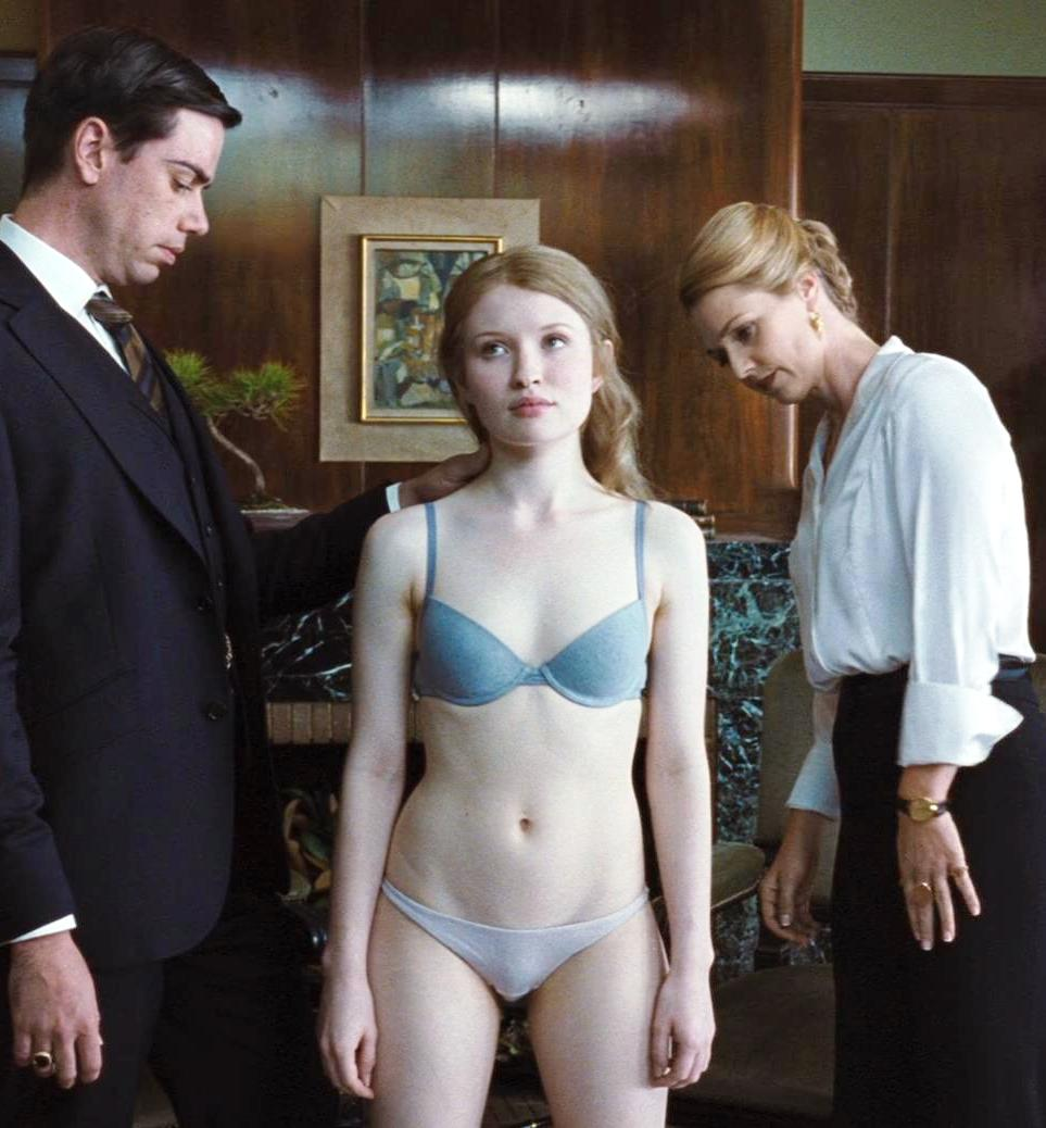 Sleeping Beauty (2011) - An Interview for a job scene with Emily Browning naked