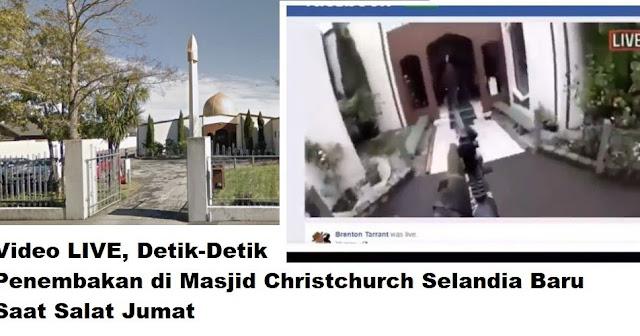 Penembakan Masjid di Selandia Baru Disiarkan Live, 27 Orang Dilaporkan Tewas