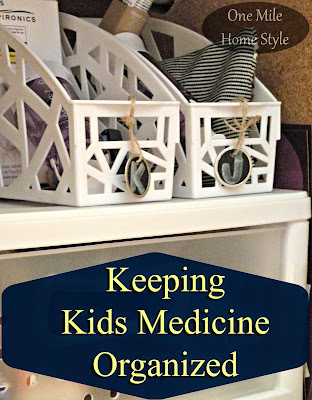 Organizing Kids Medicine - Under the Sink Storage