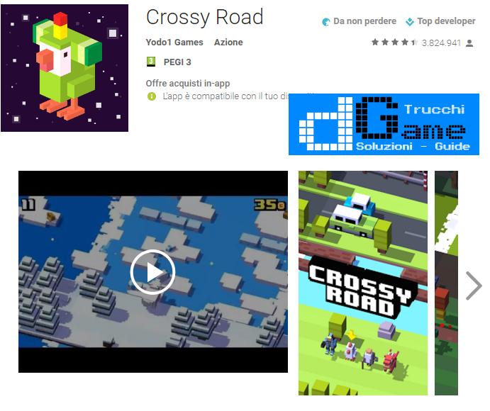 Trucchi Crossy Road Mod Apk Android v2.1.2