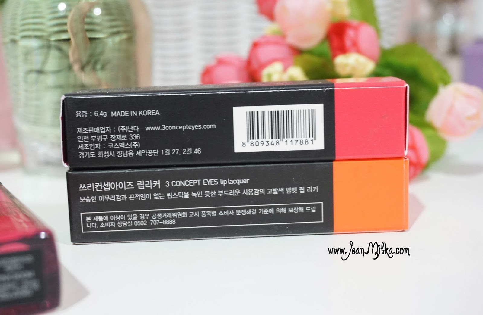3ce lip lacquer packaging