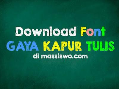 Download Font Kapur Tulis