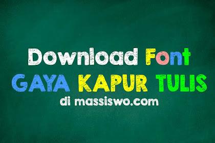 15+ Download Font Kapur Tulis Yang Sangat Mirip Aslinya Untuk Desain Grafis