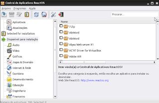 ReactOs Sistema  de código aberto