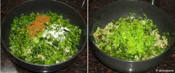 mix plantain spinach and other ingredients