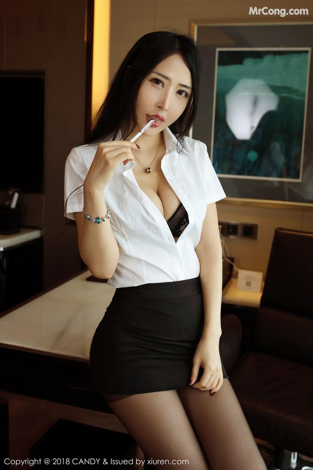 Image CANDY-Vol.063-Yu-Xi-Meng-MrCong.com-007 in post CANDY Vol.063: Người mẫu Yu Xi Meng (俞夕梦) (38 ảnh)