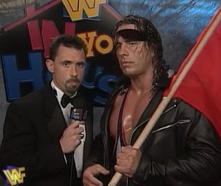 WWE / WWF - In Your House 17: Ground Zero - Bret 'The Hitman' Hart talks to Michael Cole about his match with The Patriot