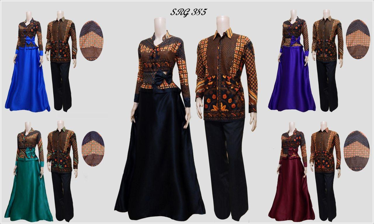 Jual Baju Batik Couple Gamis Srg 385 Solo Batik Store