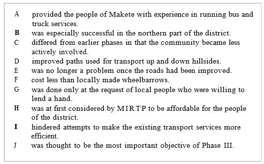 Makete Integrated Rural Transport Project