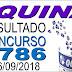 Resultado da Quina concurso 4786 (26/09/2018) ACUMULOU!!!