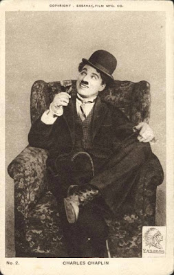 Фотооткрытка с Чарли Чаплином периода Essanay (1915)