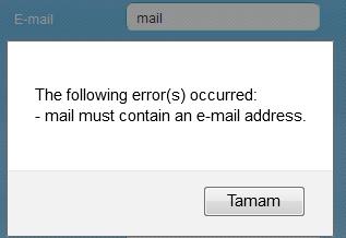 dreamweaver mail dogrulama