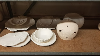 Ceramics in progress, pottery by Lily L.