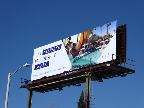 inspired by desert scene Andaz Scottsdale billboard