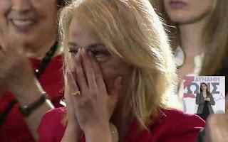 Η συγκίνηση της Ρένας Δούρου στην ομιλία του Αλέξη Τσίπρα
