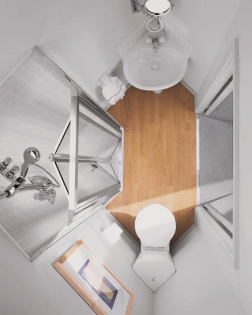 contoh desain kamar mandi kecil minimalis