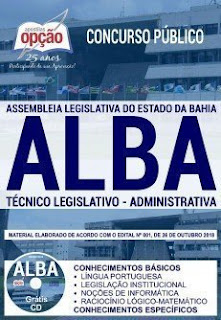 Apostila ALBA 2018 - Técnico Legislativo - Administrativa