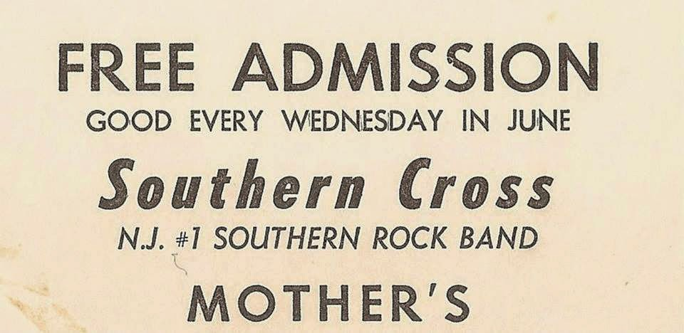 Mother's free admission pass for The Southern Cross Band