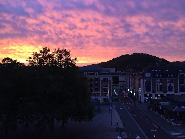 Coucher de soleil à Rouen