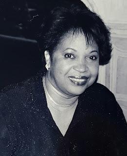 Black and White portrait of Nicole's mom Annette