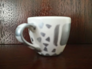 crafts decor cup silver white