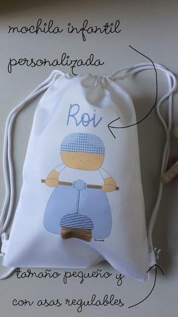mochilas y bolsas infantiles personalizadas para peques,