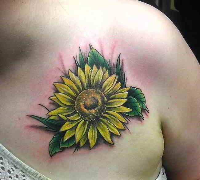 tatuajes de girasoles para mujeres y su significado
