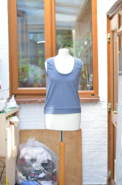 Front of a sleeveless jumper