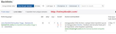 Cara mengetahui backlink website dengan ahref7