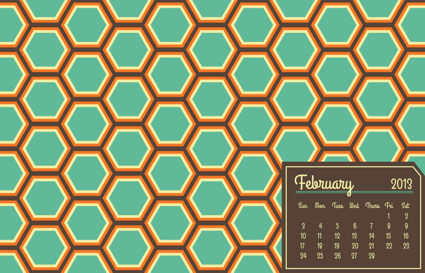 Designchosis Vintage Bee Desktop Wallpaper