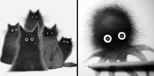 00-Luis-Coelho-Ink-Animal-Drawings-Cats-and-More-www-designstack-co