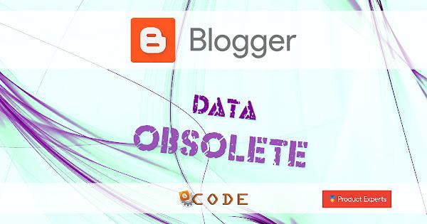 Blogger - Les données XML dépréciées
