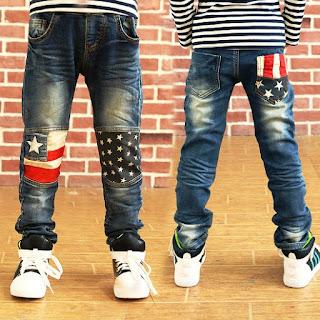 Celana Jeans Anak Laki-Laki Keren Banget