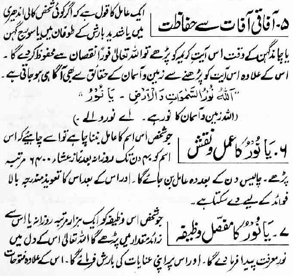 Ya Nooru Wazifa Surah Noor Benefits Urdu Ya Nooru Meaning