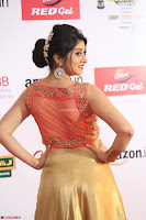 Harshika Ponnacha in orange blouuse brown skirt at Mirchi Music Awards South 2017 ~  Exclusive Celebrities Galleries 010.JPG