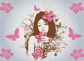 Espíritu femenil que medita y escribe