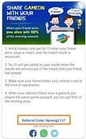gameon app referral code
