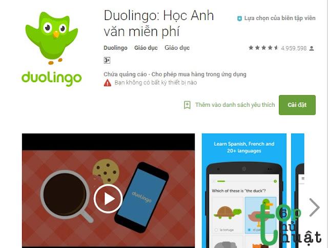 Duolingo - Phần mềm ngoại ngữ siêu việt