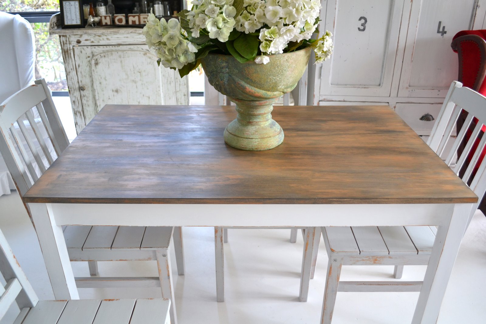 Antique Grey Dining Table