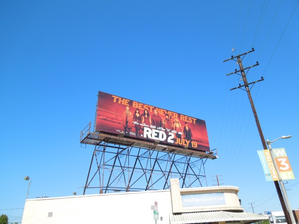 Red 2 movie billboard