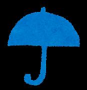 天気のマーク「雨(傘)」
