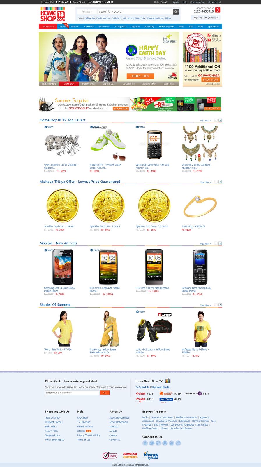 All Online Shopping WebSite: homeshop18 com
