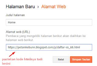 Cara Membuat Halaman Statis di Blogspot Blogger - Membuat Menu Statis di Blogger 2