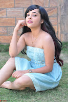 Sahana New cute Telugu Actress in Sky Blue Small Sleeveless Dress ~  Exclusive Galleries 054.jpg