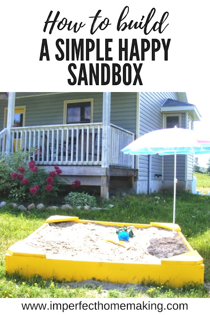 Our Simple Happy Giant Yellow Sandbox