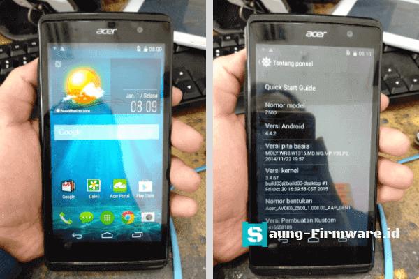 Cara flash Firmware Scatter Acer Z500 Dual Sim Bahasa Indonesia Gratis