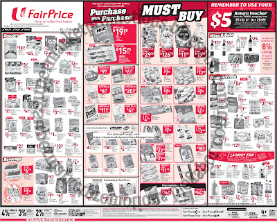 Ntuc Fairprice Weekly Promotion 25 31 October 2018