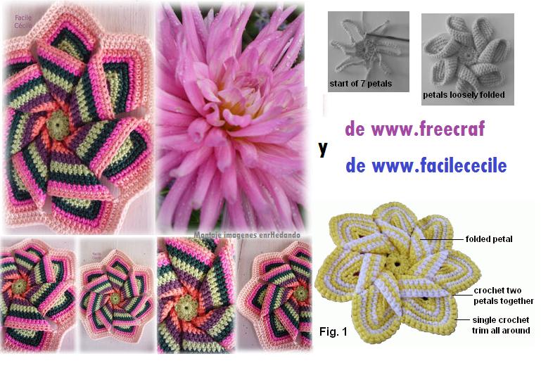 Flor Estrella de Sol de Crochet - Patrones Crochet