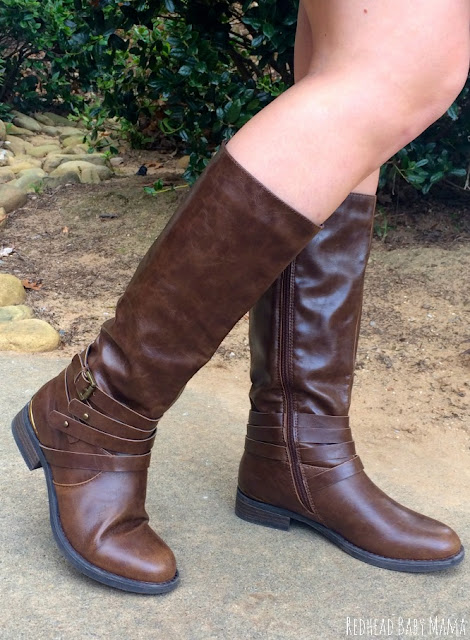 Equestrian no Heel Leather Boots from Rack Room are perfect for dressy casual
