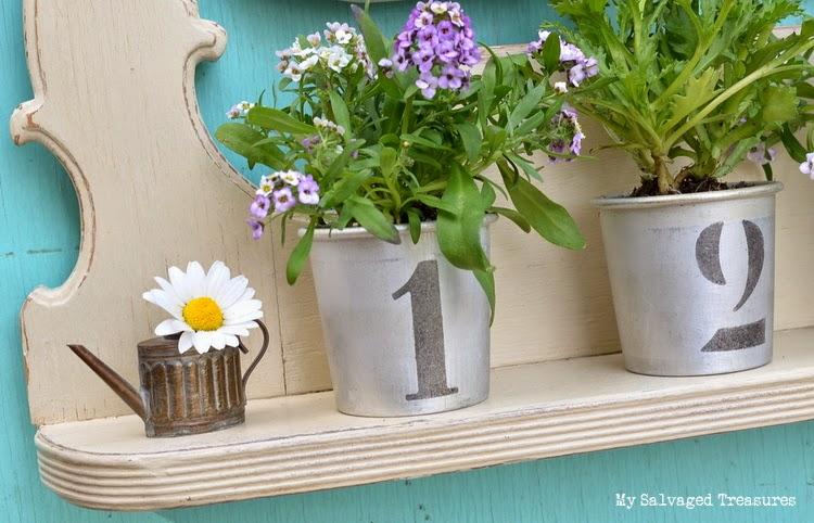 stenciled aluminum cups
